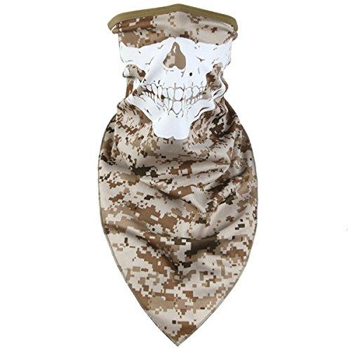 Outdoor-hals-wärmer (FREE SOLDIER Skull Face Polyester Face Shield Colorful atmungsaktiv Gesicht Maske Hals Wärmer Biking Radfahren Skifahren Schal (Desert Digits))