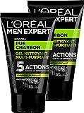 L'Oréal Men Expert Pur Charbon Gel Nettoyant Multi-Purifiant Visage pour...