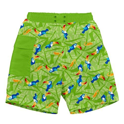 i play. 722169-509-42 Schwimmwindel- Badeshorts Pocket 3-6 Monate, Toucan, lime