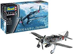 Revell-Fw190 A-8/R-2 Sturmbock, Escala 1:32 Kit de Modelos de plástico, Multicolor, 1/32 (Revell 03874 3874)