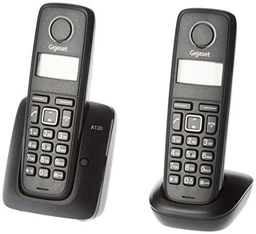 Gigaset L36852-H2401-R601 Identificador de llamadas Negro - Teléfono (Teléfono DECT, 50 m, 300 m, Escritorio, Negro, 50 entradas)