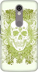 The Racoon Lean printed designer hard back mobile phone case cover for Motorola Moto X Force. (Green Trib)