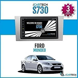 """ICARTECH - Autoradio Lecteur DVD 7"""" Pour Ford Mondeo, Android 4.1 Radio Avec Navigation GPS, Bluetooth, WiFi, Ecran Multi-touches, 3G, 4G, Préparation Pour: TV (DVB-T) & Radio Numérique (DAB +), Caméra de Tableau De Bord (DVR) - S730"""
