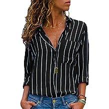 lowest price 1aff1 61539 Amazon.it: camicia righe - Nero