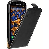 mumbi PREMIUM Leder Flip Case für Samsung Galaxy S3 / S3 Neo Tasche, Schwarz