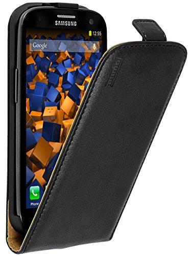 mumbi PREMIUM Leder Flip Case für Samsung Galaxy S3 / S3 Neo Tasche, Schwarz Galaxy S3 Handy Cover Leder