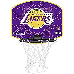 Spalding NBA L.A. Lakers Mini canasta de baloncesto, Unisex niños, Amarillo / Morado, Única