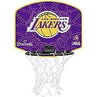Spalding NBA L.A. Lakers Mini canasta de baloncesto, Unisex niños, Amarillo/Morado, Única