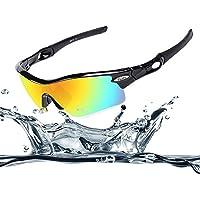 Ewin E12 occhiali sportivi occhiali da sole polarizzati TR90, 4 lenti intercambiabili per donne uomini in bicicletta di guida in bicicletta Pesca Golf e altre attività all