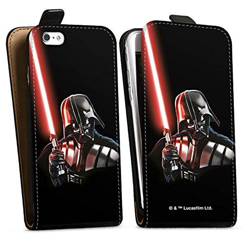 Apple iPhone 8 Silikon Hülle Case Schutzhülle Star Wars Fanartikel Merchandise Darth Vader Downflip Tasche schwarz
