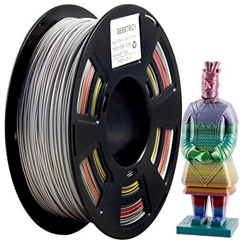 PLA Filament 1.75mm, Glitter Gradient Filament,GEEETECH Filament pla for 3d Drucker 1kg 1 spool