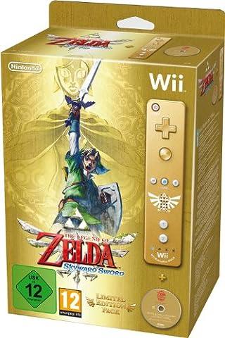 The Legend of Zelda : Skyward Sword + Manette Wii Plus dorée - édition limitée