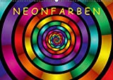 Neonfarben / AT-Version (Wandkalender 2018 DIN A2 quer): Ein Kalender für junge und junggebliebene Leute (Monatskalender, 14 Seiten ) (CALVENDO Kunst) [Kalender] [Apr 01, 2017] Art, gabiw