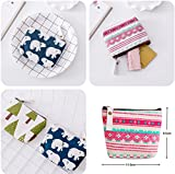 Women Canvas Coin Purse, mSure Canvas Coin Purse Pouch Bag for Credit Card, ID Card, Keys, Headset, Lipstick, 4 Pieces