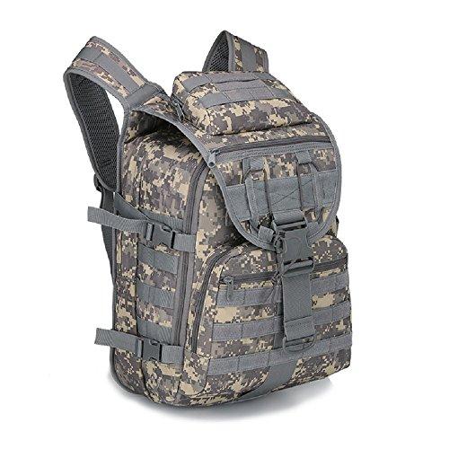 40L campeggio borsa uomo Outdoor impermeabile 3P Tad Militare Zaino Tattico Zaino Grande Assault–Borsa sacca da viaggio, Black ACU Digital