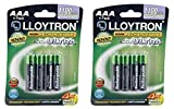 2 x Lloytron AAA 1100mAh NIMH AccuUltra Batteries (Pack of 4)