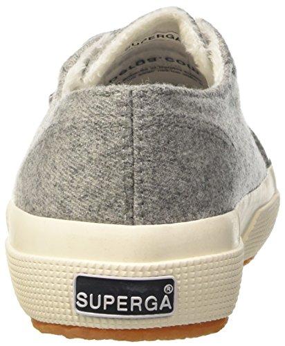 Superga 2750-woolmelangeu, Pompes à plateforme plate mixte adulte Gris - Grigio (Grey Dk)