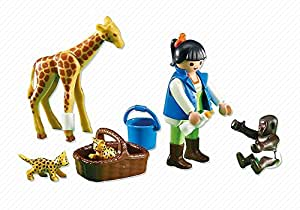 playmobil 7970 soigneuse et b b s animaux emballage plastique pas de bo te en carton. Black Bedroom Furniture Sets. Home Design Ideas
