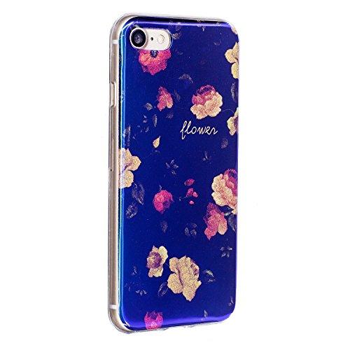 Pour Apple IPhone 7 Plus Shell Case, ultra léger léger, luxueux, bleu, lumière, TPU, silicone, gel, protection arrière, couverture ( Color : G ) D
