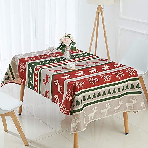 Wachstischdecke Gartentischdecke Palmblatt-Flamingo Abwaschbar nach Wunschmaß Weihnachts Design