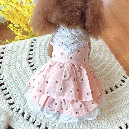 Festliche Kleidung Kostüme Kleine Daisy Layered Skirt Haustier Hund Kleidung Frühling und Sommer Teddy Pudel Yorkshire Bomei Cat Kostüm Winter - Daisy Kostüm Für Hunde