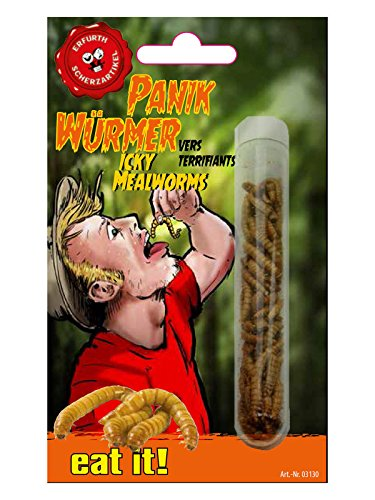 Preisvergleich Produktbild Mehlwürmer essbar im Reagenzglas bunt 1,5g