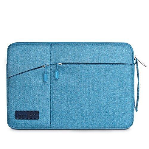 Preisvergleich Produktbild Macbook Tablettenhülse 15,4 Zoll ,elecfan® Wasserresistente Laptop Hülsen Beutel Abdeckung für 15-15.4Zoll MacBook Air, Netbook Tablette mit einem kleinen Fall. (15-15,4 Zoll, Blau)