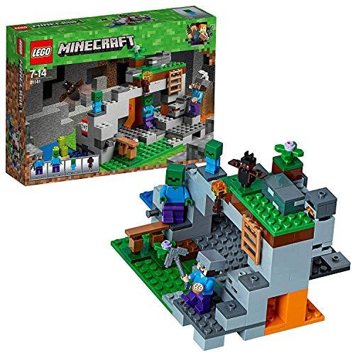 Foto LEGO- Minecraft la Caverna dello Zombie, Multicolore, 21141