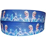 DISNEY FROZEN PRINCESS ELSA SPARKLE GROSGRAIN RIBBON 2M X 22mm FOR CAKE'S BIRTHDAY CAKES GIFT WRAP WRAPPING RIBBON HAIR BOWS CARDS CRAFT SHOELACES