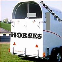 """Pferde im Schriftzug """"HORSES"""" Aufkleber Anhänger Pferd Anhänger ca. 100x20cm"""