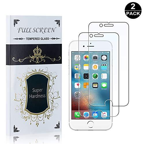 Produktbild Bear Village® iPhone 6 Plus / 6S Plus Displayschutzfolie,  HD Panzerglasfolie,  99% Transparente,  9H Härtegrad Schutzfilm aus Gehärtetem Glas für Apple iPhone 6 Plus / 6S Plus / 7 Plus / 8 Plus - 2 Stück