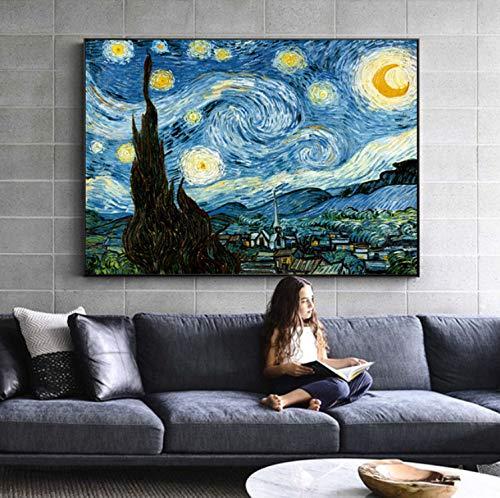 Haoxinbaihuo Van Gogh Noche Estrellada Famosos Pinturas