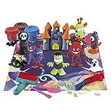 Playgo 8762 Set plastilina para moldear Monstruos & 3 botes (56 gramos)