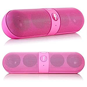Mobilefit Mini Bluetooth Multimedia Speaker Wireless Speaker (PINK) System With SD Card/Pen Drive (Capsule) Best for Lenovo LePad S2007