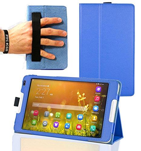 Navitech Blaues Case Cover mit Multi Stand Funktion für das Huawei MediaPad M1 8.0