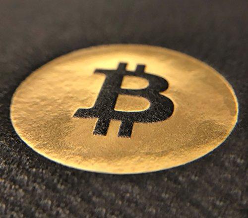 Bitcoin Cocktail Servietten | aus schwarzem Premium Airlaid | 25 St. | 25 x 25 cm | hochwertige BITCOIN Goldprägung | - 4