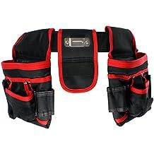 SPARES2GO 20doble de bolsillo bolsa de cinturón de herramientas (Heavy Duty Carpinteros Carpintero Builders–Clavos