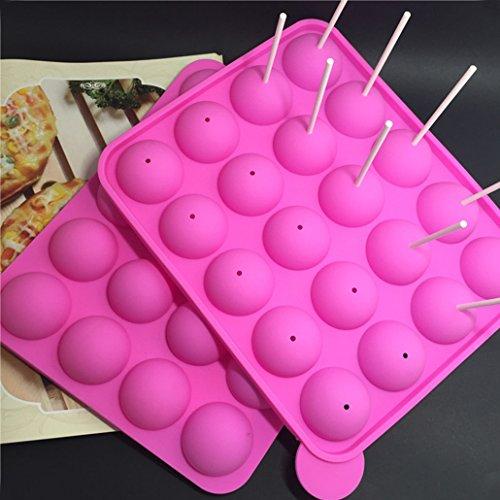 Luniquz cake pops Form Süßigkeit Form Schokoladenform Silikon Backset Eiskugelform Eiswürfelform Silikon-Eiswürfelform DIY Form für Muffin / Schokolade / Eiskugel / Süßigkeit