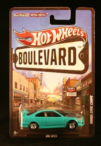 HOT WHEELS BOULEVARD BIG HITS 1:64 SCALE TEAL HONDA CIVIC COUPE DIE-CAST by Hot Wheels Teal Coupe