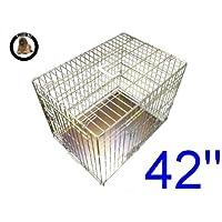 Ellie-Bo cucciolo del cane gabbia pieghevole Crate 2 porta con non-Chew vassoio di metallo Extra Large oro da 42 pollici