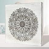 Cuadro Mandala de Pared Calada, Fabricada artesanalmente en España- Mandala 3D- Pintada a Mano-...
