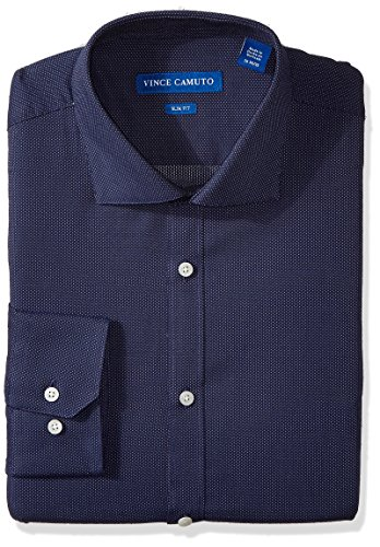 vince-camuto-mens-slim-fit-dobby-dress-shirt-indigo-pindot-155-neck-32-33-sleeve