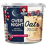 Quaker Blueberry and Cranberry Over Night Oats Pot, 58 g