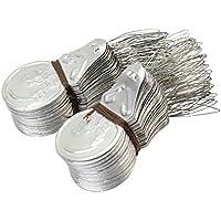 Gespout Lot de 100 Enfile-aiguille Tone Wire Loop DIY Threader Stitch Enfile-aiguille Silbe