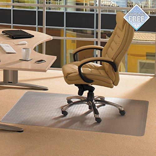 Affordable Floortex Advantagemat PVC Chair Mat for Carpets up to 1/4″ Thick, 48″ x 118″, Rectangular, Clear (FR1130025EV) Online