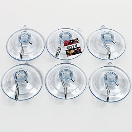 Cotu (R) 6Stück All Purpose 13/10,2cm Medium Starke Saugnäpfe mit Haken-made in USA (für bis zu 3lbs Pro Saugnapf) -