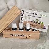 Pranarom - pranabox coffret 3 huiles basilic lavandin et ravintsara
