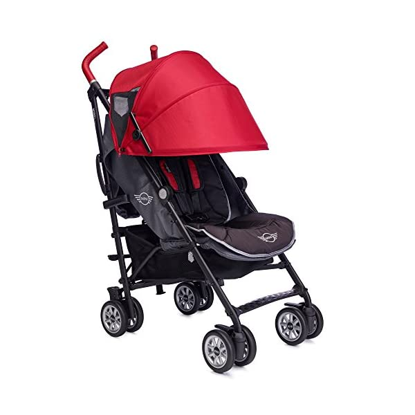 Easywalker Mini Buggy, X-Large, Union Red Easy Walker Suitable from birth 5 point 3 position harness Four recline positions with near flat recline 2
