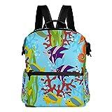 TIZORAX Sea Life Schildkröte Koralle Seegras Schulrucksack College Bag Daypack Bookbags für Teenager, Jungen und Mädchen