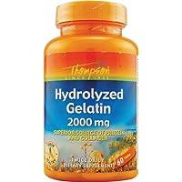 Thompson, Hydrolyzed Gelatin, 2000 mg, 60 Tablets